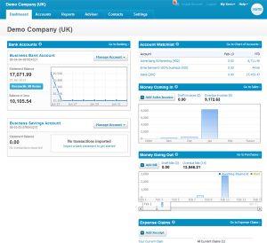 Xero Accounting Software Dashboard